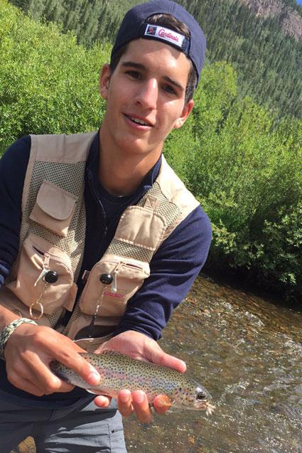 Jacob fishing in Lake City