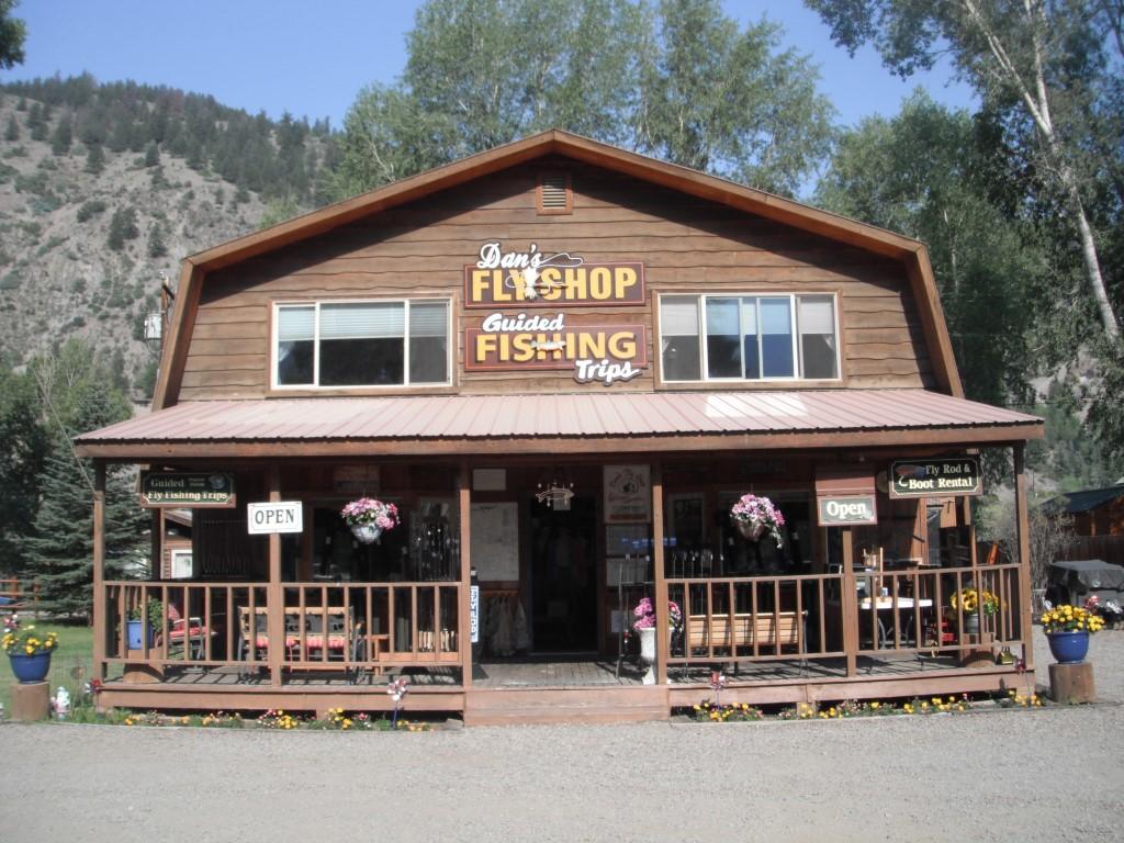 Autumn Storefront Dan's Fly Shop Lake City, CO