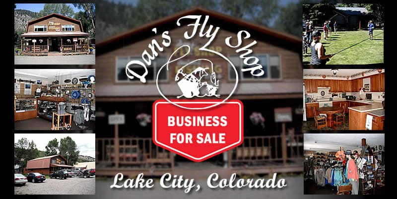 Dan's Fly Shop Business For Sale photo showing several areas of the business